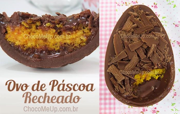 Famosos Ovo de Páscoa Recheado com Bolo de Cenoura e Brigadeiro - Choco Me Up! UB13